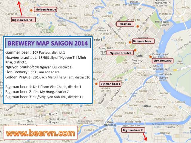 Beer map saigon
