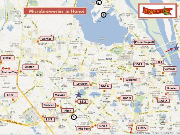 Beer map Hanoi