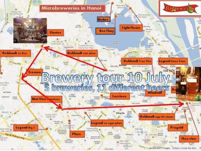 brewery tour 10 july