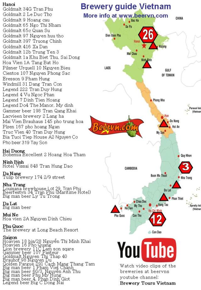 brewery map vietnam